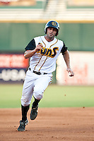 Brandon Tripp of the  Jacksonville Suns during a game vs. the Tennessee Smokies July 10 2010 at Baseball Grounds of Jacksonville in Jacksonville, Florida. Photo By Scott Jontes/Four Seam Images