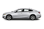 Car driver side profile view of a 2019 Chevrolet Malibu LT 4 Door Sedan