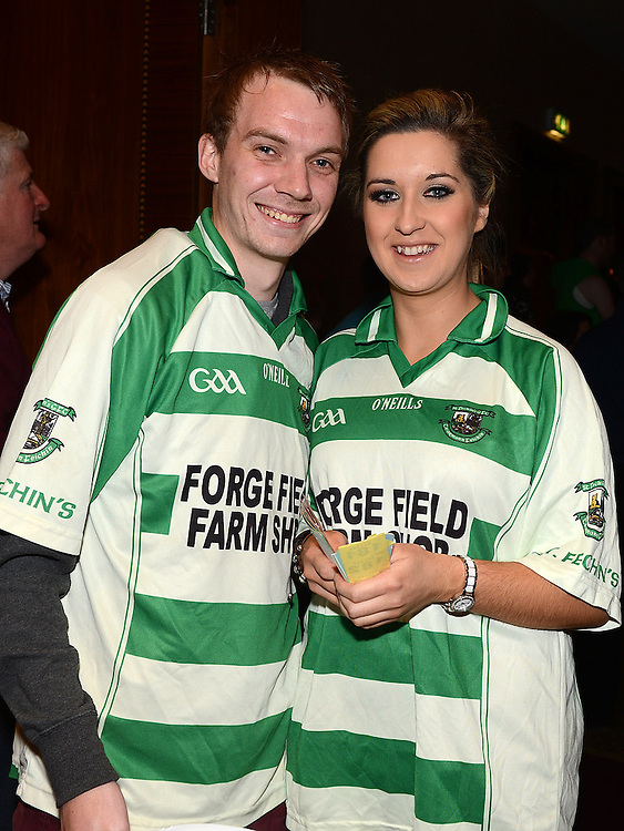 Andrew Synnott and Mairead Mooney at the White Collar Boxing in City North Hotel. Photo:Colin Bell/pressphotos.ie