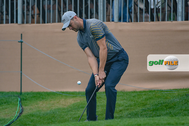 Martin Kaymer (GER) chips up tight on 18 during day 3 of the Valero Texas Open, at the TPC San Antonio Oaks Course, San Antonio, Texas, USA. 4/6/2019.<br /> Picture: Golffile | Ken Murray<br /> <br /> <br /> All photo usage must carry mandatory copyright credit (© Golffile | Ken Murray)