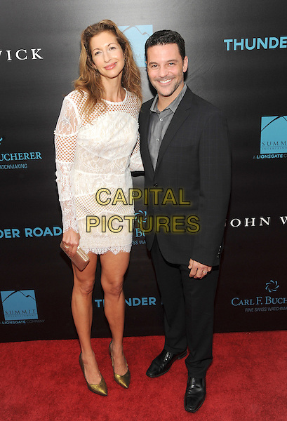 New York, NY- October 13: Alysia Reiner and David Alan Basche attends the Summit Entertainment and Thunder Road Pictures New York screening of John Wick at the Regal Union Square on October 13, 2014 in New York City.  <br /> CAP/RTNSTV<br /> &copy;RTNSTV/MPI/Capital Pictures