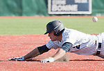 February 24, 2012:   Nevada Wolf Pack runner Joe Kohan dives head first into third after hitting a triple against the Utah Valley Wolverines during  their NCAA baseball game played at Peccole Park on Friday afternoon in Reno, Nevada.