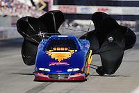 Nov 14, 2010; Pomona, CA, USA; NHRA top alcohol funny car driver Mark Woznichak during the Auto Club Finals at Auto Club Raceway at Pomona. Mandatory Credit: Mark J. Rebilas-