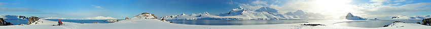 Panorama of Half Moon bay Island