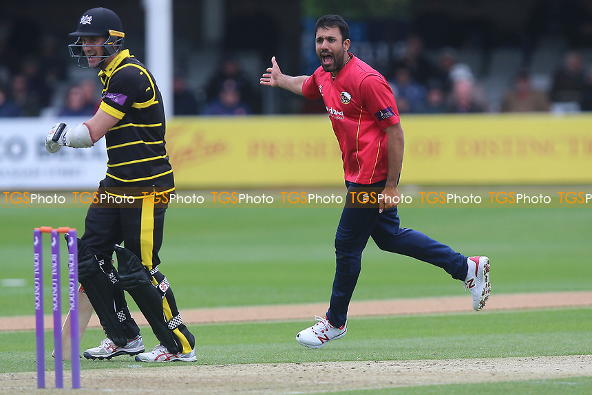 Ravi Bopara of Essex with an appeal for a wicket during Essex Eagles vs Gloucestershire, Royal London One-Day Cup Cricket at The Cloudfm County Ground on 4th May 2017