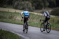 Isra&euml;l Cycling Academy Teammates needs to abandon the race after being involved in a crash. <br /> <br /> <br /> 78th Euro Metropole Tour 2018<br /> La Louvi&egrave;re &ndash; Tournai (BEL): 206km
