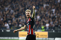 Martin Hinteregger (Eintracht Frankfurt) - 29.08.2019: Eintracht Frankfurt vs. Racing Straßburg, UEFA Europa League, Qualifikation, Commerzbank Arena<br /> DISCLAIMER: DFL regulations prohibit any use of photographs as image sequences and/or quasi-video.