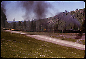 Engine hauling freight east of Chama heading to Cumbres Pass.<br /> D&amp;RGW  Chama, NM  6/29/1965