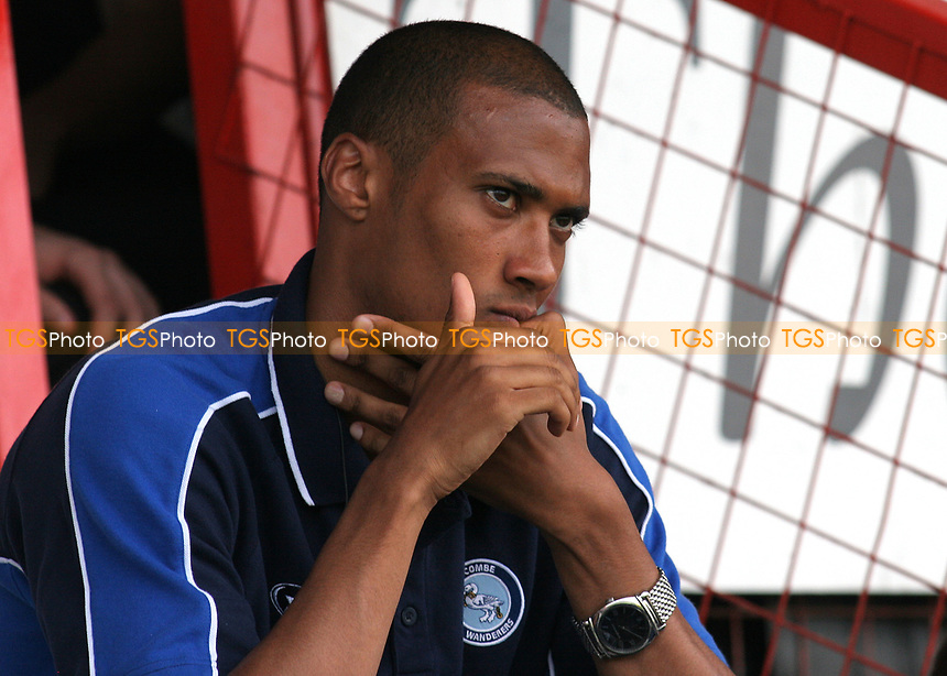 Chris Zebroski of Wycombe Wanderers, former Plymouth and Millwall player watches on from the Main Stand during Stevenage Borough vs Wycombe Wanderers, Friendly Match Football at Broadhall Way on 25th July 2008