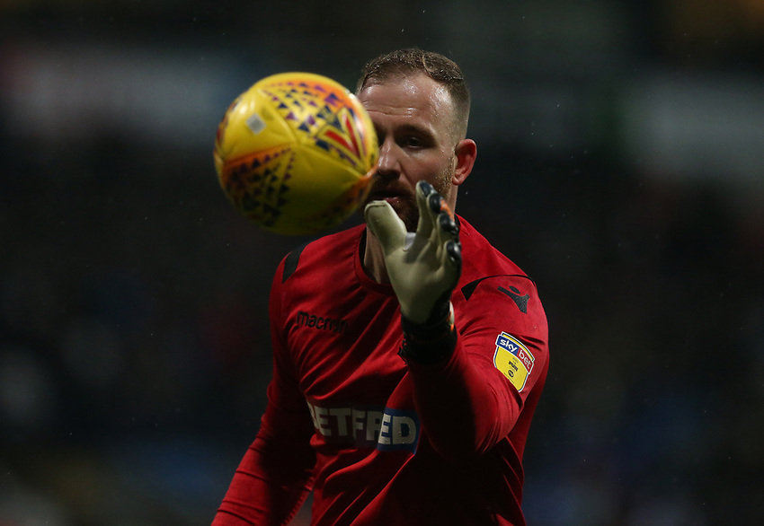 Bolton Wanderers' goalkeeper Ben Alnwick<br /> <br /> Photographer Stephen White/CameraSport<br /> <br /> The EFL Sky Bet Championship - Bolton Wanderers v Leeds United - Saturday 15th December 2018 - University of Bolton Stadium - Bolton<br /> <br /> World Copyright © 2018 CameraSport. All rights reserved. 43 Linden Ave. Countesthorpe. Leicester. England. LE8 5PG - Tel: +44 (0) 116 277 4147 - admin@camerasport.com - www.camerasport.com