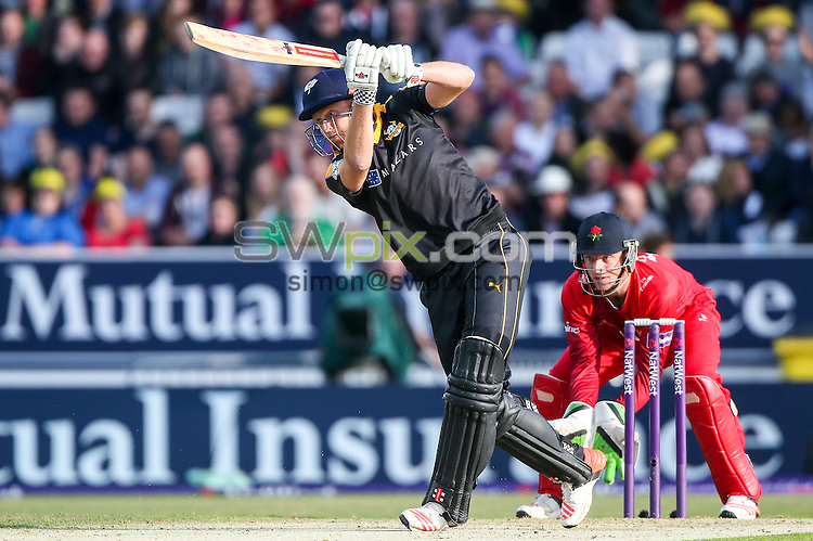 Picture by Alex Whitehead/SWpix.com - 05/06/2015 - Cricket - NatWest T20 Blast - Yorkshire Vikings v Lancashire Lightning - Headingley Cricket Ground, Leeds, England - Yorkshire's Jonny Bairstow hits out.