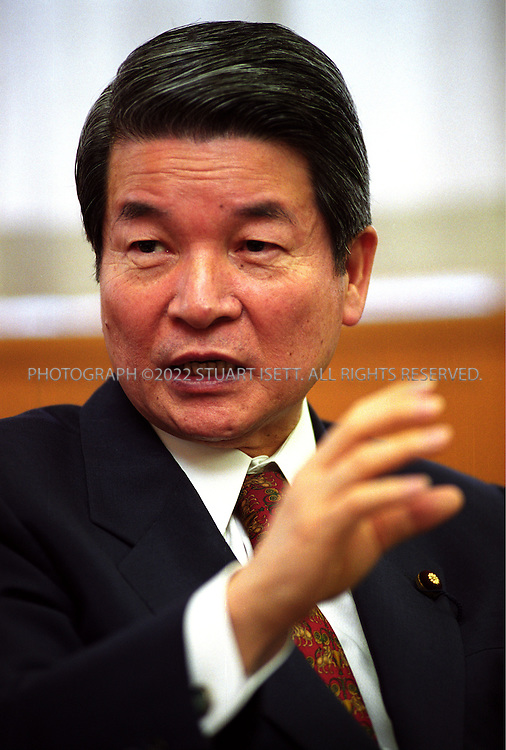 11/2/99--Tokyo, Japan..Hakuo Yanagisawa, Japan's financial reconstruction minister, and a leading Liberal Democratic Party member, responsible of cleaning up Japan's banking mess...All photographs ©2003 Stuart Isett.All rights reserved.This image may not be reproduced without expressed written permission from Stuart Isett.