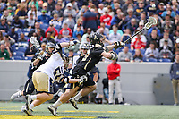 Annapolis, MD - April 15, 2017: Army Black Knights Dan Grabher (99) tries to get the ball during game between Army vs Navy at  Navy-Marine Corps Memorial Stadium in Annapolis, MD.   (Photo by Elliott Brown/Media Images International)