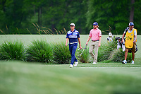 Rickie Fowler (USA) leads the pack down 2 during round 3 of the Shell Houston Open, Golf Club of Houston, Houston, Texas, USA. 4/1/2017.<br /> Picture: Golffile | Ken Murray<br /> <br /> <br /> All photo usage must carry mandatory copyright credit (&copy; Golffile | Ken Murray)