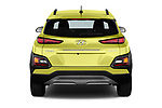 Straight rear view of a 2018 Hyundai Kona Luxury Launch 5 Door SUV stock images