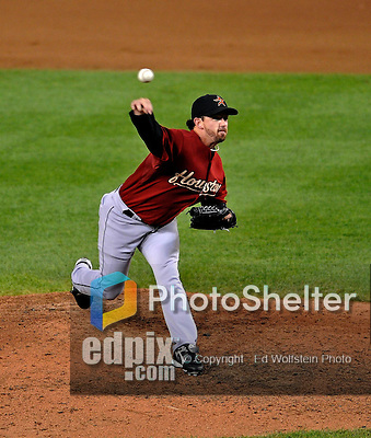 12 July 2008: Houston Astros' relief pitcher Geoff Geary in action against the Washington Nationals at Nationals Park in Washington, DC. The Astros defeated the Nationals 6-4 in the second game of their 3-game series...Mandatory Photo Credit: Ed Wolfstein Photo