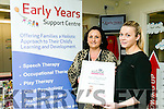Clódagh Moynihan Centre Manager Oakview Village Childcare & Early Years Support Centre and Joelene O'Keeffe with the Boots Maternity and Infant award  for Best in Equality and Diversity.