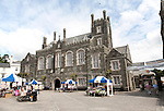 The Town Hall designed by architect Edward Rundle built 1864 In Bedford Square,  Tavistock, Devon, England, UK