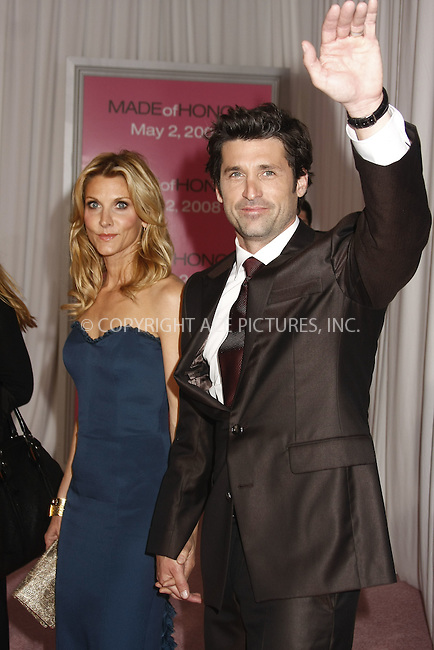 WWW.ACEPIXS.COM . . . . .  ....April 28 2008, New York City....Actor Patrick Dempsey and Jillian Dempsey arriving at the premiere of 'Made of Honor' at the Zeigfeld Theatre in midtown Manhattan....Please byline: AJ Sokalner - ACEPIXS.COM..... *** ***..Ace Pictures, Inc:  ..te: (646) 769 0430..e-mail: info@acepixs.com..web: http://www.acepixs.com