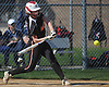 Emily Bell #18, Babylon first baseman, connects for a three-run home run in the bottom of the first inning of a Suffolk League VII varsity softball game against Shoreham-Wading River at Babylon Elementary School on Tuesday, May 1, 2018. Babylon won by a score of 13-1.