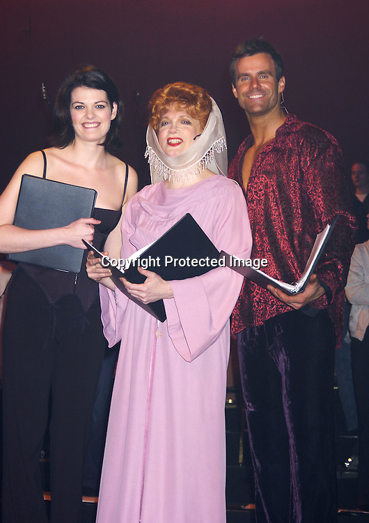 "Kate Shindle, Charles Busch and  Cameron Mathison ..at a performance of ""Pippin"" A Concert to Benefit The National Aids Fund and The Storm Theatre on November 29, 2004 at The Manhattan Center's Grand Ballroom...PHoto by Robin Platzer, Twin Images"