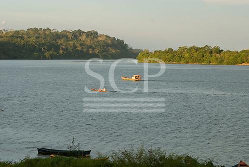 Pará State, Brazil. Xingu River. Altamira; riverboats.