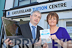 Marcus and Deirdre Kearney at the opening of the Castleisland Tuition Centre on Tuesday