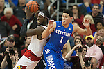 of the Kentucky Wildcats during the game against  the Louisville Cardinals at KFC Yum! Center on Saturday, December 27, 2014 in Louisville `, Ky. Kentucky defeated Louisville 58-50. Photo by Michael Reaves | Staff