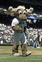 17 July 2005: Seattle Mariners mascot the Mariner Moose.