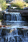 The waterfall garden at the Chalet on the Lake hotel located on Table Rock Lake behind the dam in Branson, Missouri