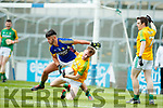 Jeff O'Donoghue Kerry in action against Cathal McConnell Meath in the All Ireland Junior Football Final at O'Moore Park, Portlaoise on Saturday.