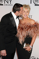 Hugh Jackman and Deborra-Lee Furness at the 66th Annual Tony Awards at The Beacon Theatre on June 10, 2012 in New York City. Credit: RW/MediaPunch Inc. NORTEPHOTO.COM