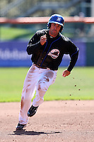 April 19, 2010:  Third Baseman Mike Cervenak of the Buffalo Bisons runs the bases during a game at Coca-Cola Field in Buffalo, New York.  The Bisons are the Triple-A International League affiliate of the New York Mets.  Photo By Mike Janes/Four Seam Images