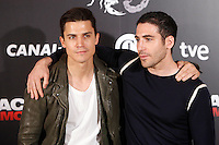 Spanish actors Alex Gonzalez and Miguel Angel Silvestre attend the 'Alacran Enamorado' photocall at the Princesa cinema in Madrid, Spain. April 09, 2013. (ALTERPHOTOS/Caro Marin) /NortePhoto