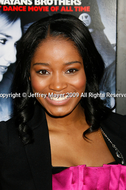 "HOLLYWOOD, CA. - May 20: Keke Palmer arrives at the Los Angeles Premiere of ""Dance Flick"" at the ArcLight Theatre on May 20, 2009 in Hollywood, California."