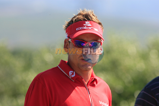 Ian Poulter (ENG) walks off the 9th tee during the morning session on Day 3 of the Volvo World Match Play Championship in Finca Cortesin, Casares, Spain, 21st May 2011. (Photo Eoin Clarke/Golffile 2011)