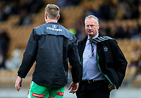 Manawatu coach Jeremy Cotter during the Mitre 10 Cup Ranfurly Shield Rugby Match between Taranaki and Manawatu at Yarrow Stadium, New Plymouth, Auckland,  New Zealand. Wednesday 11th October 2017. Photo: Simon Watts / www.bwmedia.co.nz