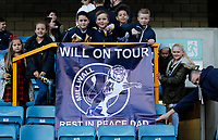 Millwall FC fans commemorate absent family during the Sky Bet Championship match between Millwall and Birmingham City at The Den, London, England on 21 October 2017. Photo by Carlton Myrie.