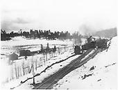 General scene.  Standard gauge work train at summit of pass.<br /> D&amp;RG  La Veta Pass, CO  Taken by Davis, O. T. - 1899