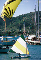 Semaine d'Antigua, dériveur et spi ascentionnel