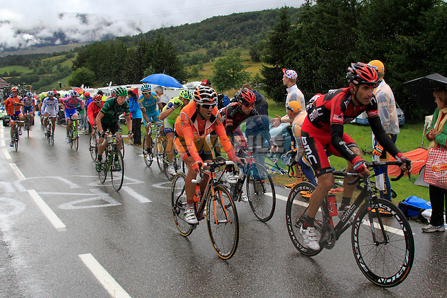 Riders including Tour veteran George Hincapie (USA) BMC Racing Team approach the summit of the Category 2 climb Col de Manse 10k from the finish during Stage 16 of the 2011 Tour de France, 162.5k from Saint-Paul-Trois-Chateaux to Gap, 19th July 2011 (Photo by Eoin Clarke/NEWSFILE)