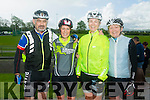 l-r  Jerry Fagin, Caroline Martin, Mary Nolan and Sheila McCarthy from Currow, Castleisland Strugglers at the  St Kieran's GAA cycle from the Castleisland Desmonds Pitch on Sunday