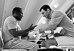 07.06.2011, Stanglwirt, Going, AUT, Wladimir Klitschko, Training, im Bild Emanuel Steward Trainer und Wladimir Klitschko, Schwarz weiss, BW. EXPA Pictures © 2010, PhotoCredit: EXPA/ J. Groder