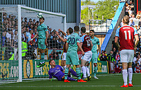 Arsenal's Nacho Monreal clears off his line<br /> <br /> Photographer Alex Dodd/CameraSport<br /> <br /> The Premier League - Burnley v Arsenal - Sunday 12th May 2019 - Turf Moor - Burnley<br /> <br /> World Copyright © 2019 CameraSport. All rights reserved. 43 Linden Ave. Countesthorpe. Leicester. England. LE8 5PG - Tel: +44 (0) 116 277 4147 - admin@camerasport.com - www.camerasport.com