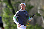 KANNAPOLIS, NC - APRIL 09: Charlotte's Conor Purcell (IRL) tees off on the 11th hole. The third round of the Irish Creek Intercollegiate Men's Golf Tournament was held on April 9, 2017, at the The Club at Irish Creek in Kannapolis, NC.