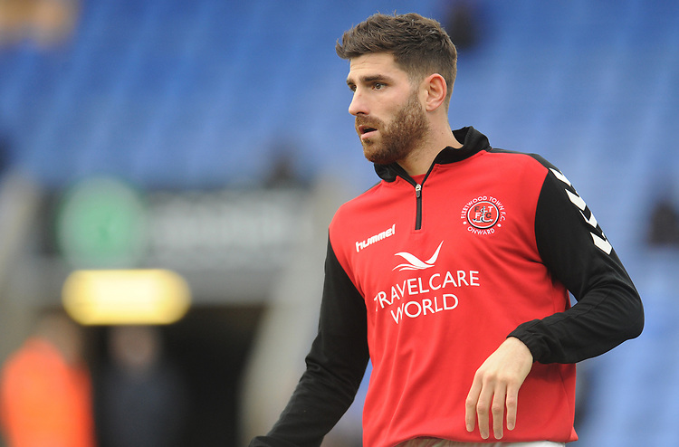 Fleetwood Town's Ched Evans during the pre-match warm-up <br /> <br /> Photographer Kevin Barnes/CameraSport<br /> <br /> The EFL Sky Bet League One - Shrewsbury Town v Fleetwood Town - Tuesday 1st January 2019 - New Meadow - Shrewsbury<br /> <br /> World Copyright © 2019 CameraSport. All rights reserved. 43 Linden Ave. Countesthorpe. Leicester. England. LE8 5PG - Tel: +44 (0) 116 277 4147 - admin@camerasport.com - www.camerasport.com
