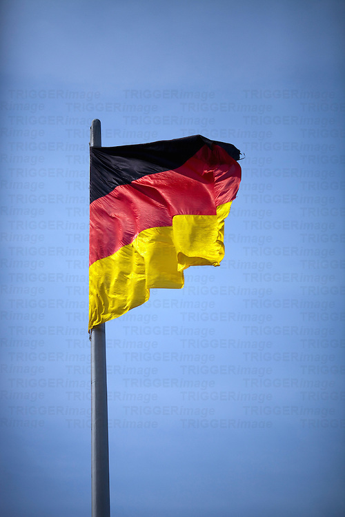 German flag, Berlin, Germany