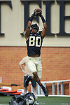 Wake Forest Demon Deacons wide receiver Waydale Jones (80) warms-up prior to the game against the Rice Owls at BB&T Field on September 29, 2018 in Winston-Salem, North Carolina. The Demon Deacons defeated the Owls 56-24. (Brian Westerholt/Sports On Film)