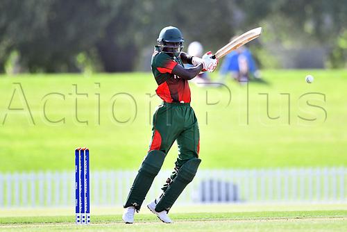 17th January 2018, Hagley Oval, Christchurch, New Zealand; Under 19 Cricket World Cup, New Zealand versus Kenya;  Kenya's batsman Thomas Ojijo in action