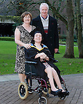 REPRO FREE<br /> 21/01/2015<br /> Emma Ryan, MA Gender Culture and Society, FAHSS from Askeaton, Co. Limerick pictured with her parents Michael and Carmel Ryan as the University of Limerick continues three days of Winter conferring ceremonies which will see 1831 students conferring, including 74 PhDs. <br /> UL President, Professor Don Barry highlighted the increasing growth in demand for UL graduates by employers and the institution&rsquo;s position as Sunday Times University of the Year. <br /> Picture: Don Moloney / Press 22
